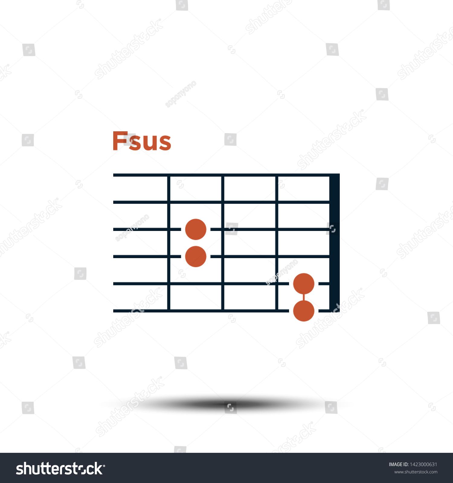 Fsus Basic Guitar Chord Chart Icon Stock Vector Royalty Free ...