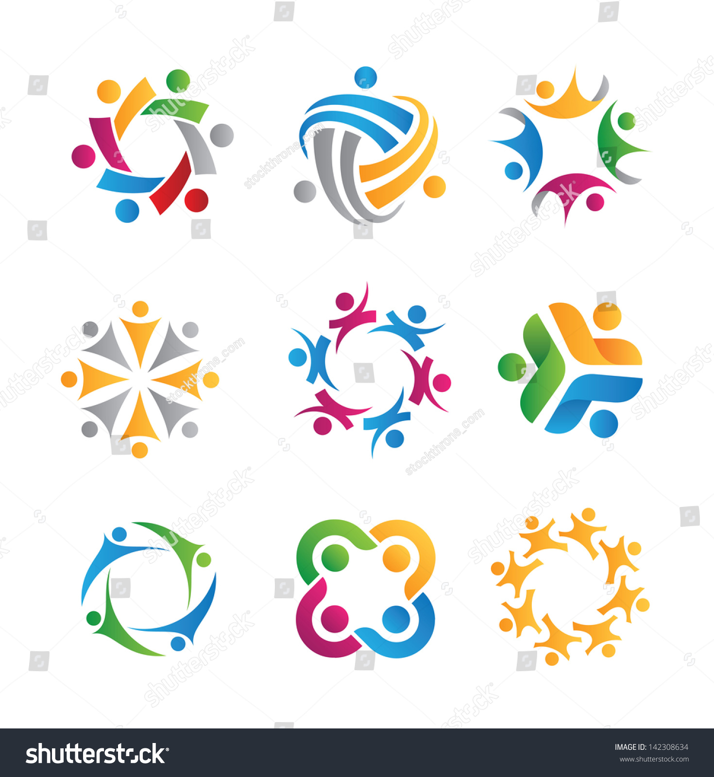 Social relationship logo icon stock vector 142308634 for Relation sociale
