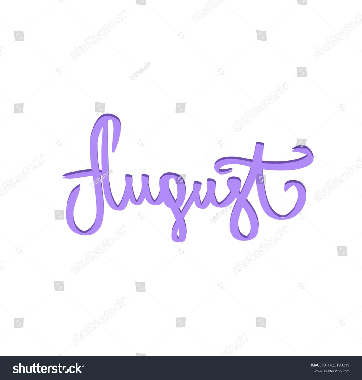 stock-vector-violet-august-handwritten-n