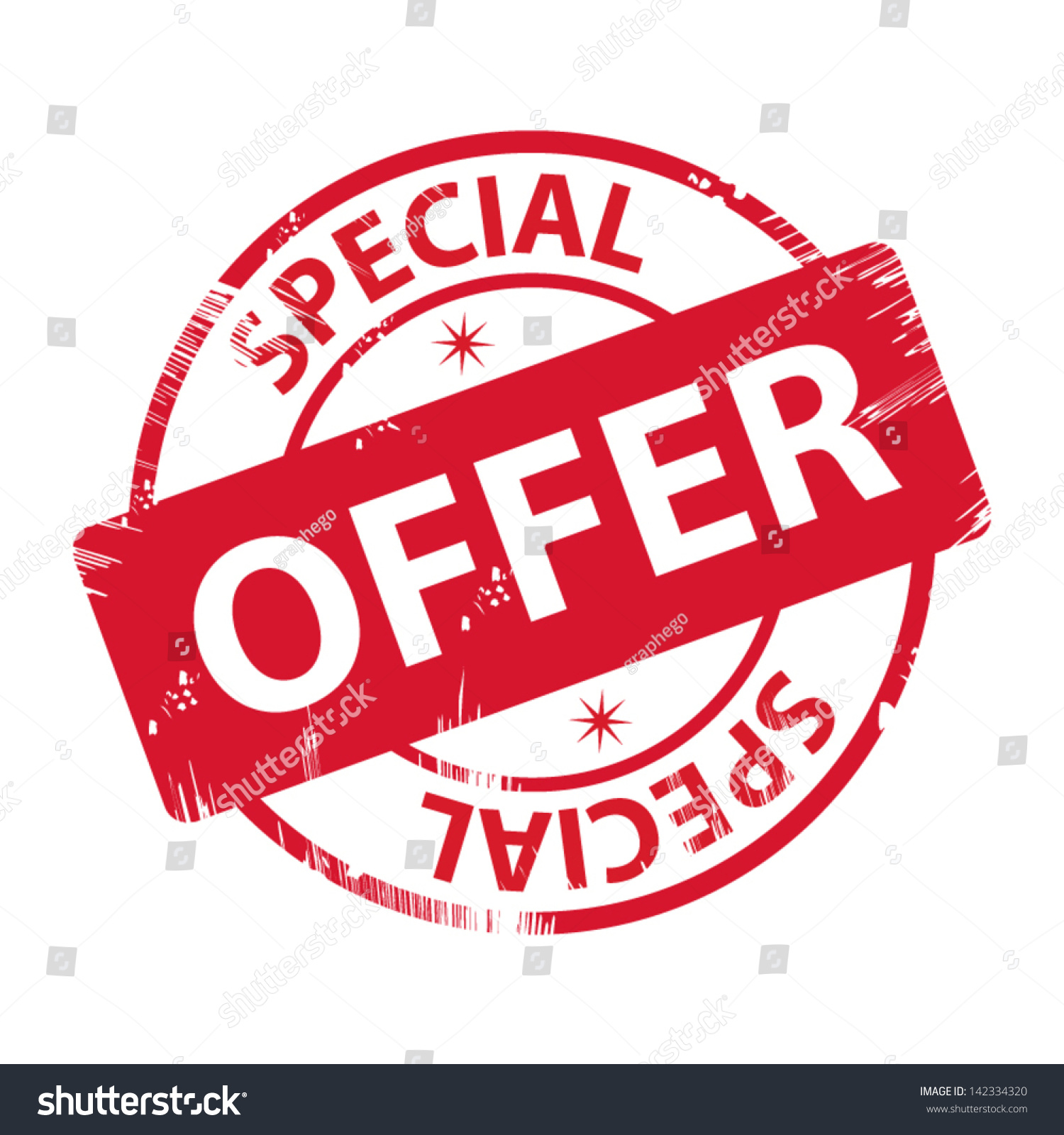 Rubber Stamp Text Special Offer Icon Stock Vector Royalty Free 142334320