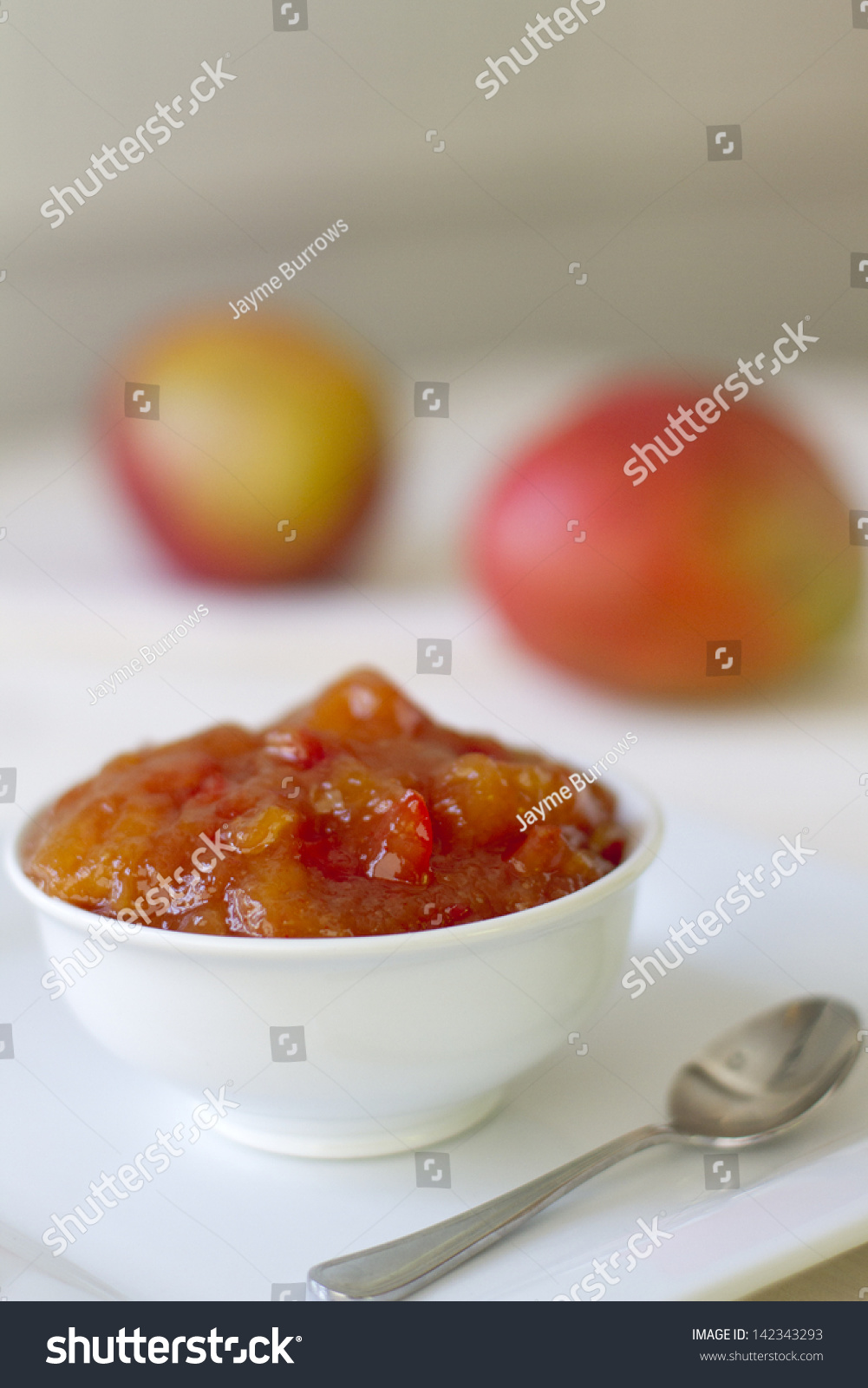 Homemade Mango Chutney With Ginger And Red Pepper. Stock Photo ...