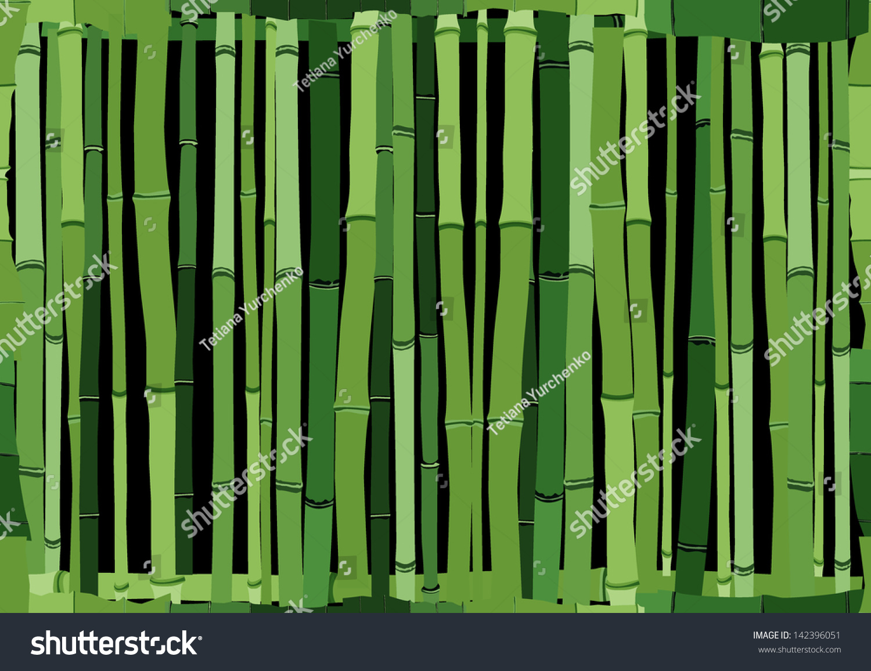 Seamless cartoon background green wall bamboo stock vector