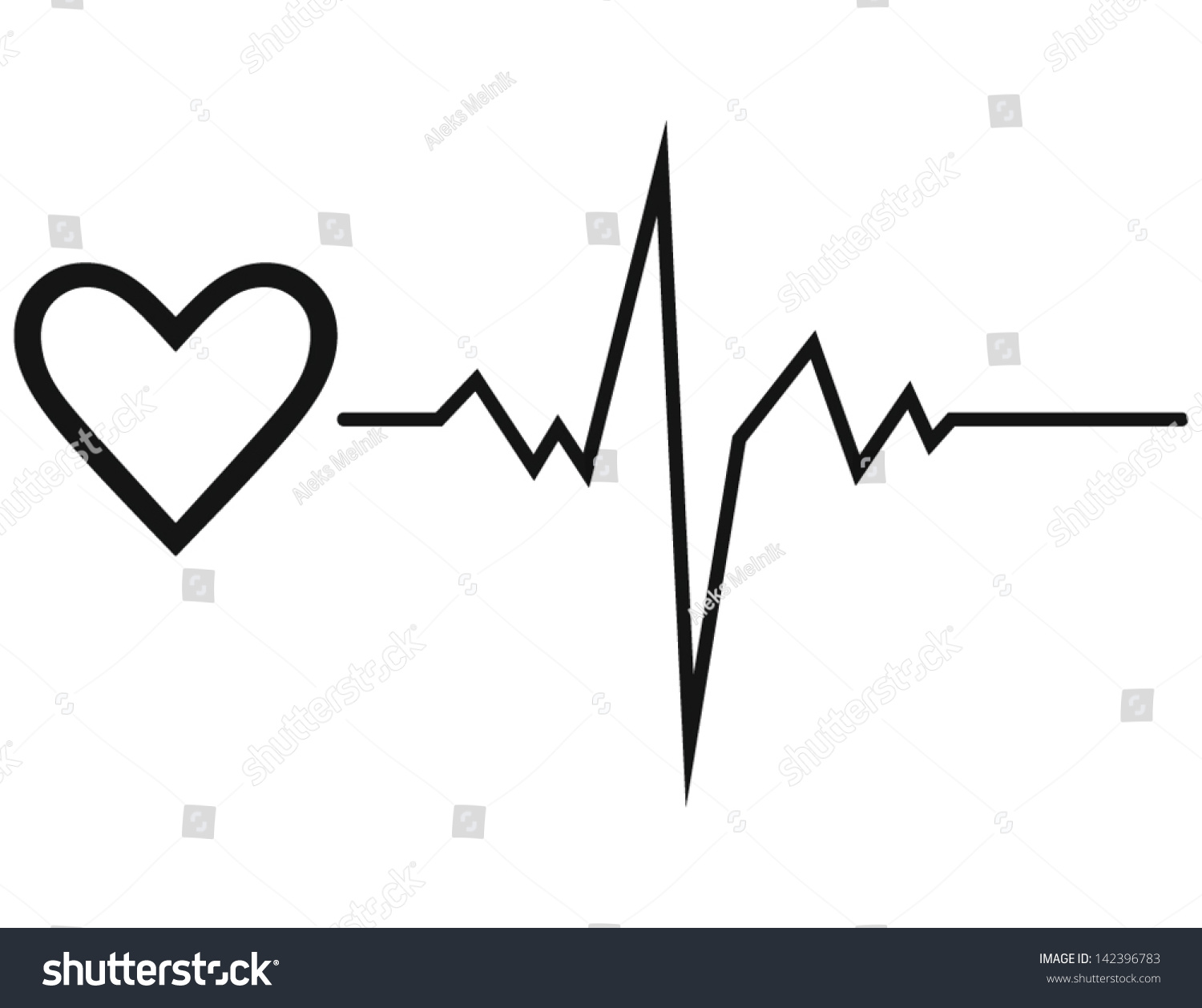 Life Line Symbol Heart Stock Vector Royalty Free 142396783