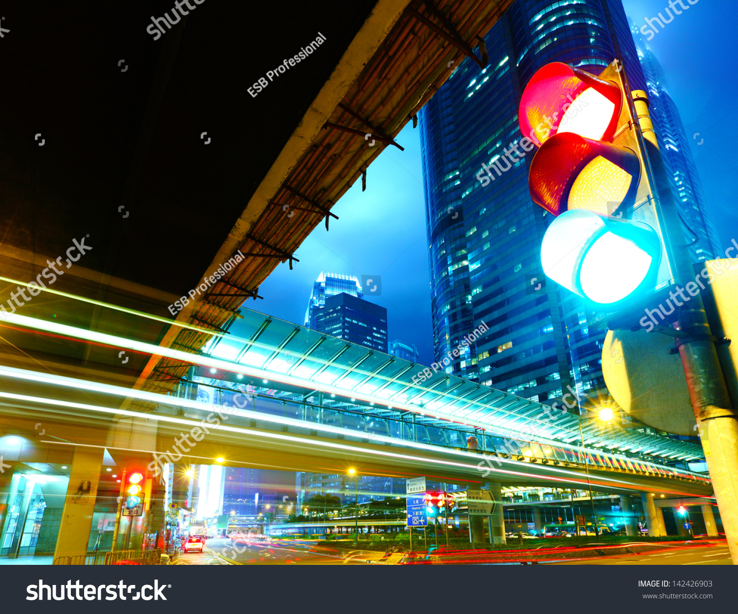Traffic light in the city #142426903