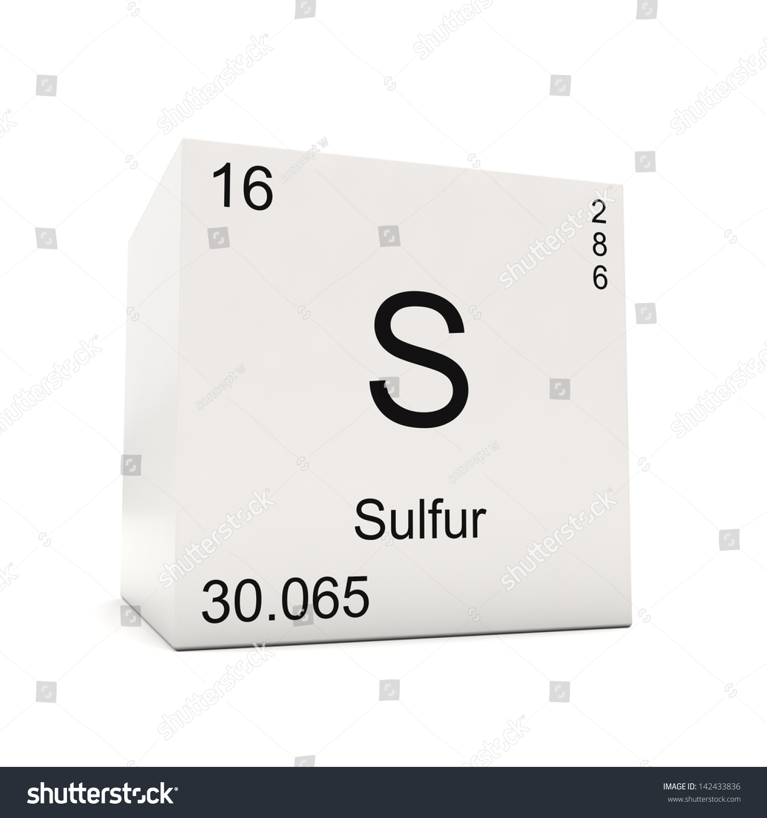 Cube sulfur element periodic table isolated stock illustration cube of sulfur element of the periodic table isolated on white background gamestrikefo Image collections