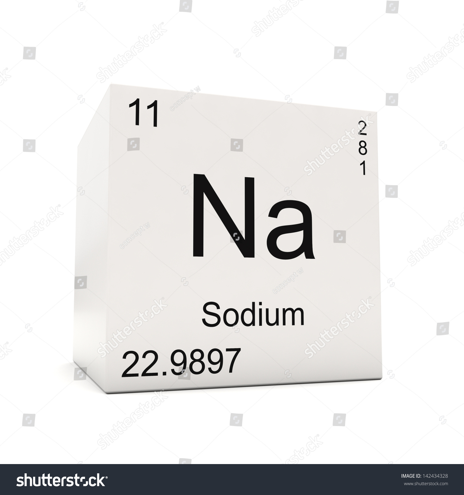 Cube sodium element periodic table isolated stock illustration cube of sodium element of the periodic table isolated on white background gamestrikefo Image collections