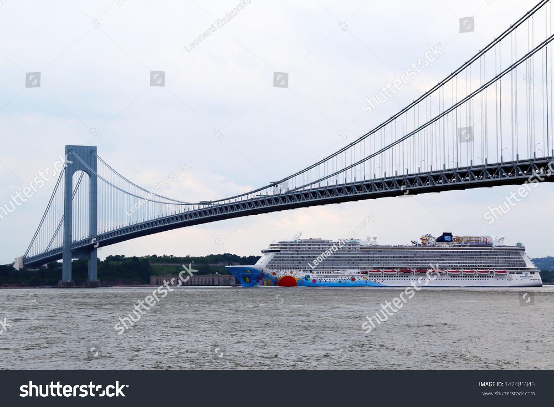 New York June 16norwegian Breakaway Cruise Stock Photo