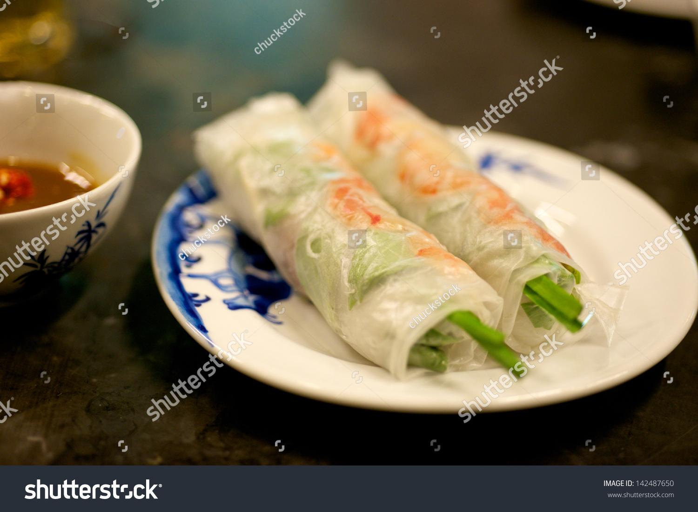 Vietnamese Special Delicatessen Spring Rolls Stock Photo ...