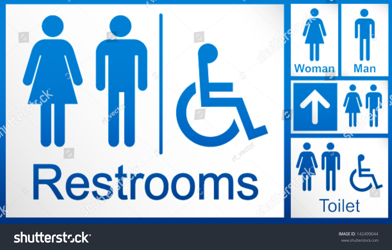 Printable bathroom sign - Mens And Womens Disabled Restroom Signage Set Men S Boy S Women S Printable Restroom