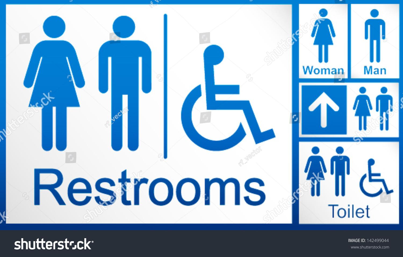 Imagenes De Baño Solo Para Mujeres:para hombre y mujer + conjunto de señaliza crónica de baño para