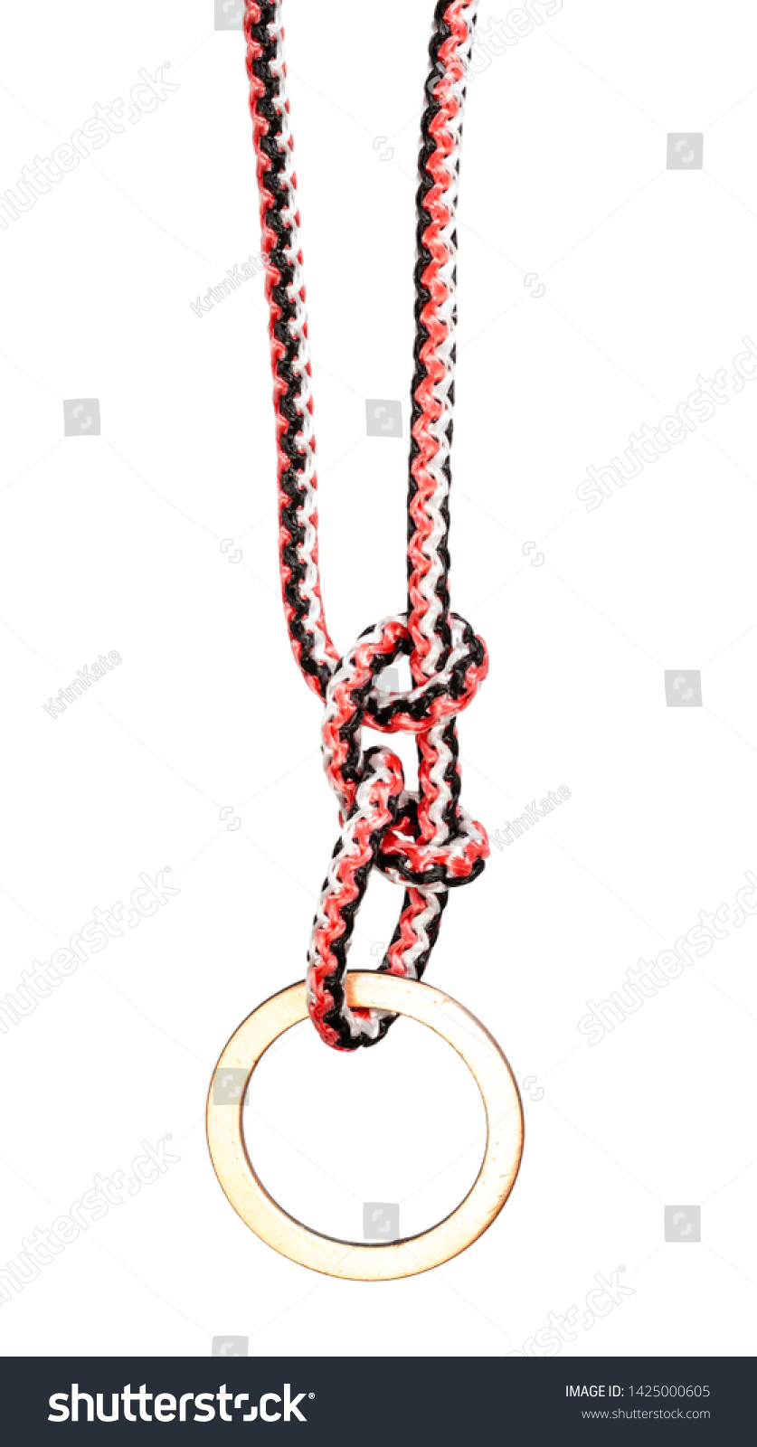 Hammock Hitch Knot Tied On Synthetic Stock Photo Edit Now 1425000605