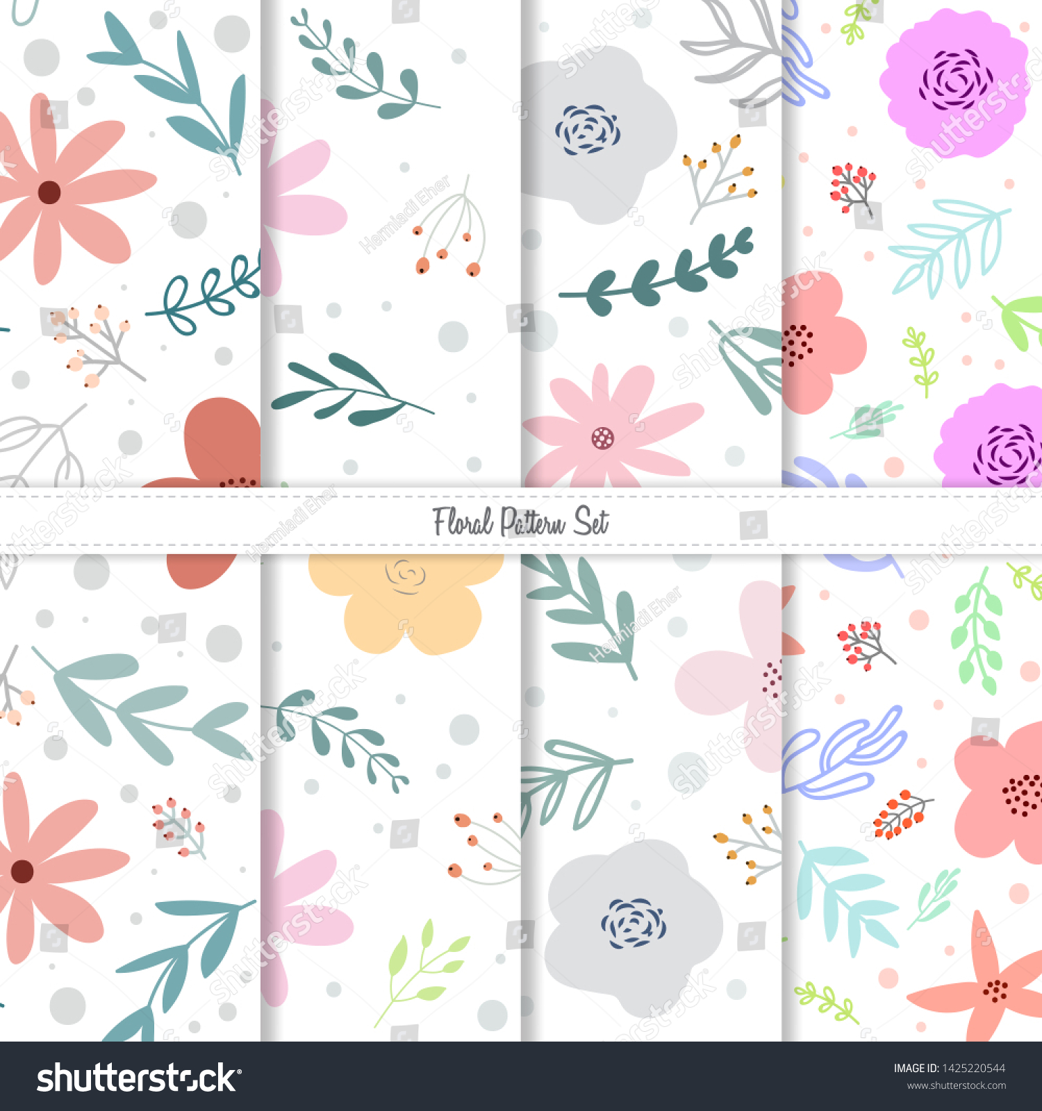 Spring Summer Floral Pattern Design Small Stock Image Download Now