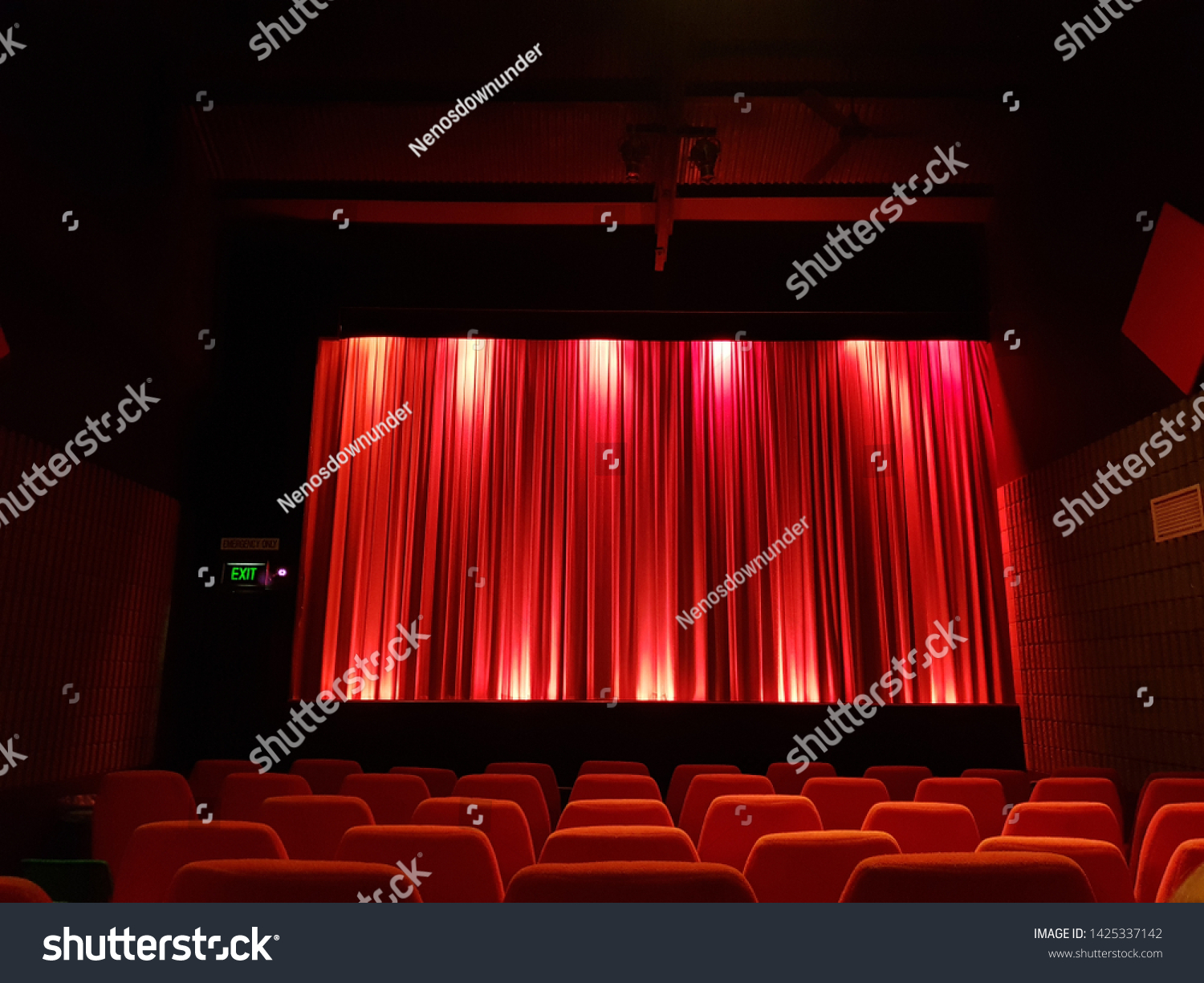Red Curtain Movies Best Seat House Stock Photo Edit Now 1425337142