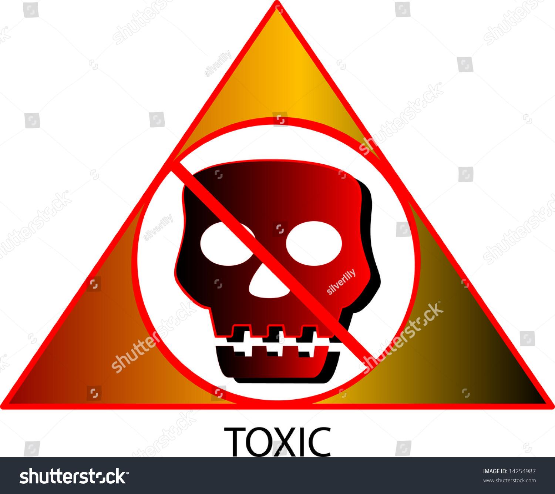 Vector Illustration Toxic Symbol Stock Vector Royalty Free