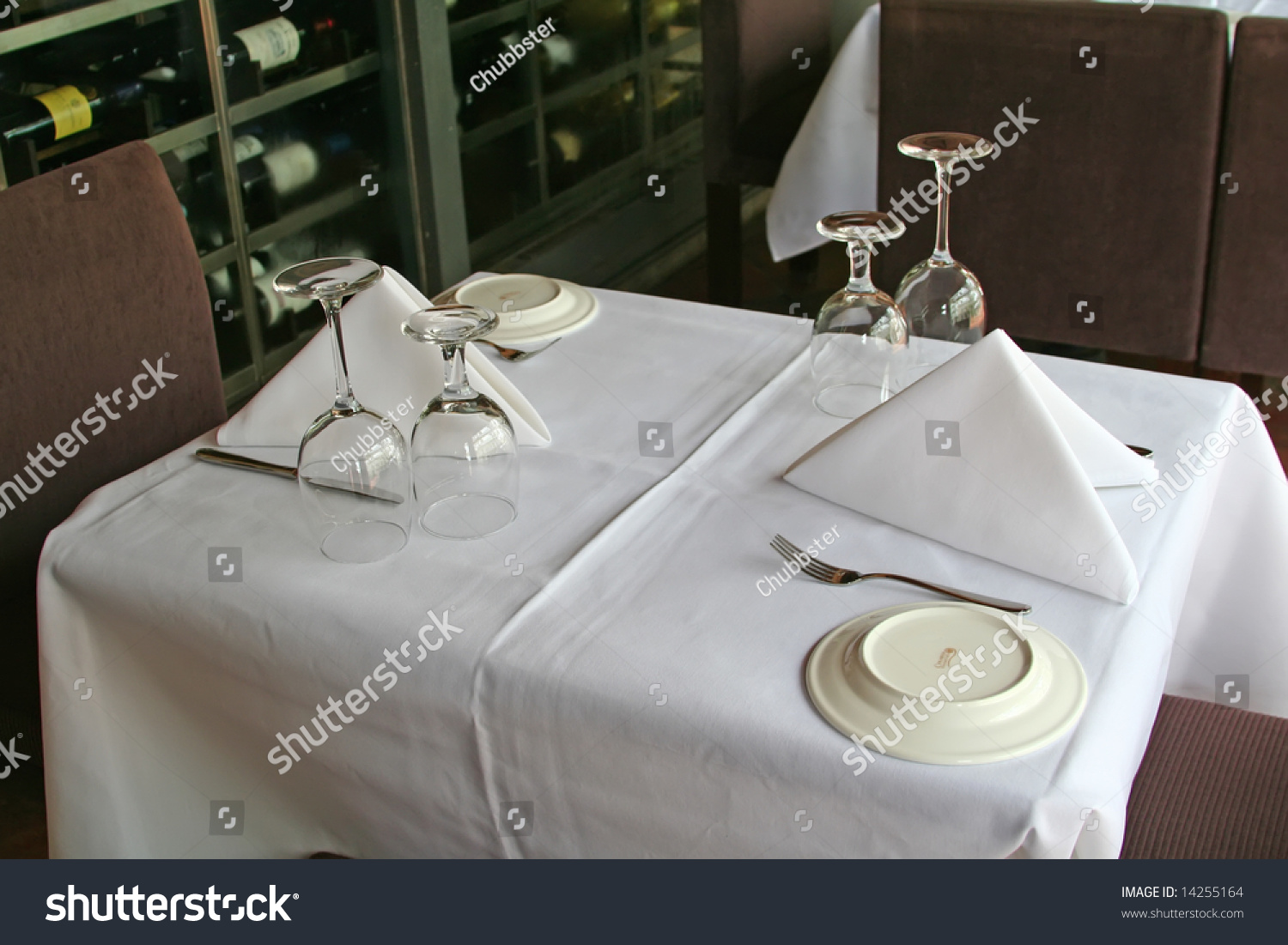 Fancy restaurant table setting - Photo Dining Table Setting Fine Photo Dining Table Setting Fine With View Wine Bottles Background