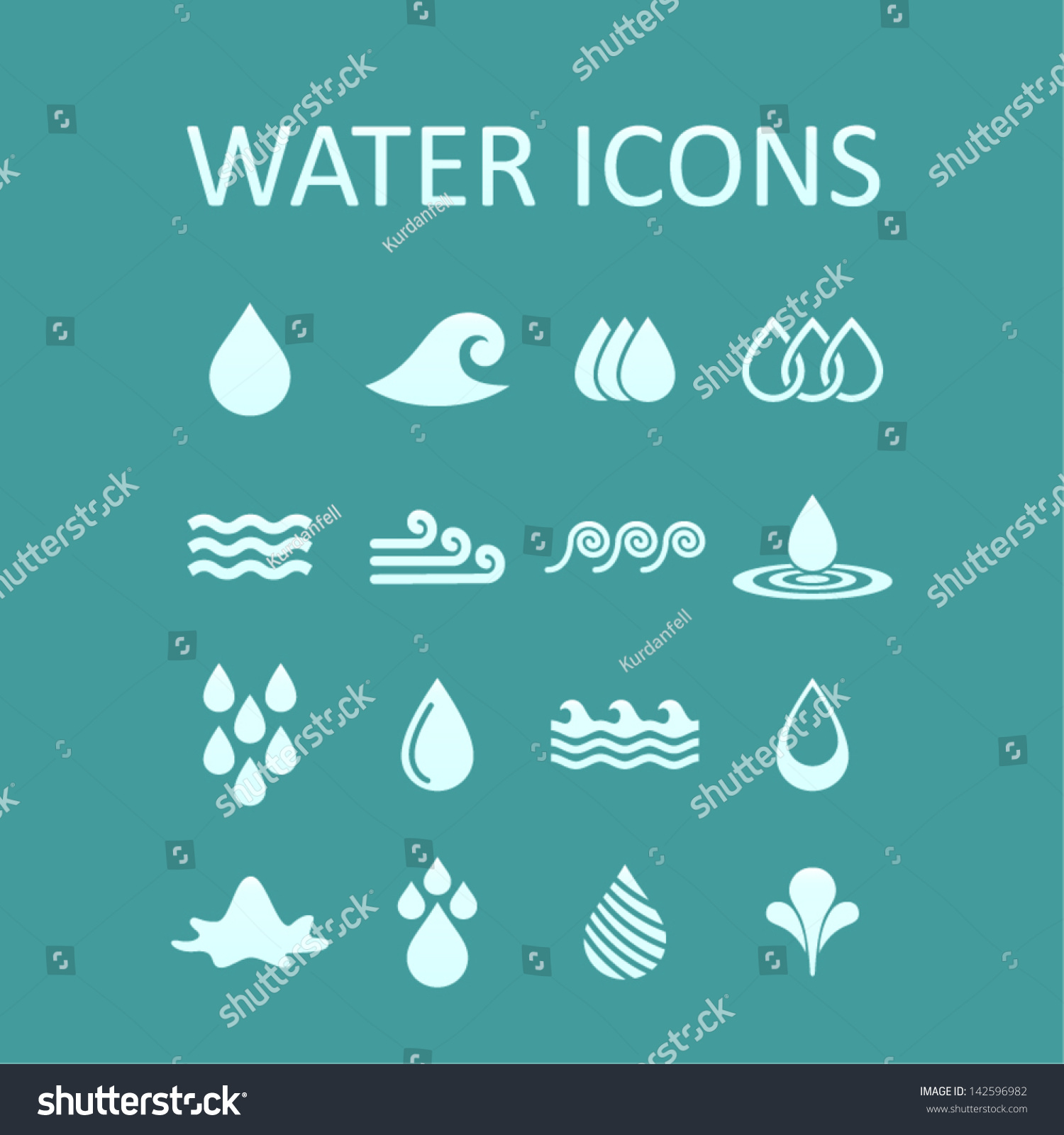 Set Icons Water Design Vector Illustration Stock Vector ...