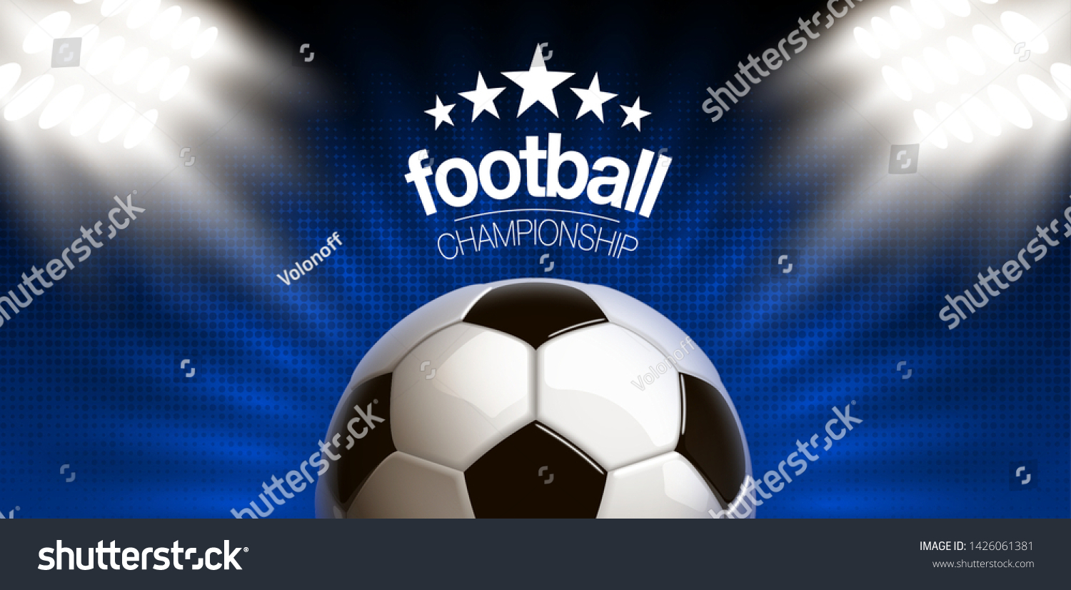 Football Modern Sports Poster Cup Design Stock Vector Royalty Free 1426061381