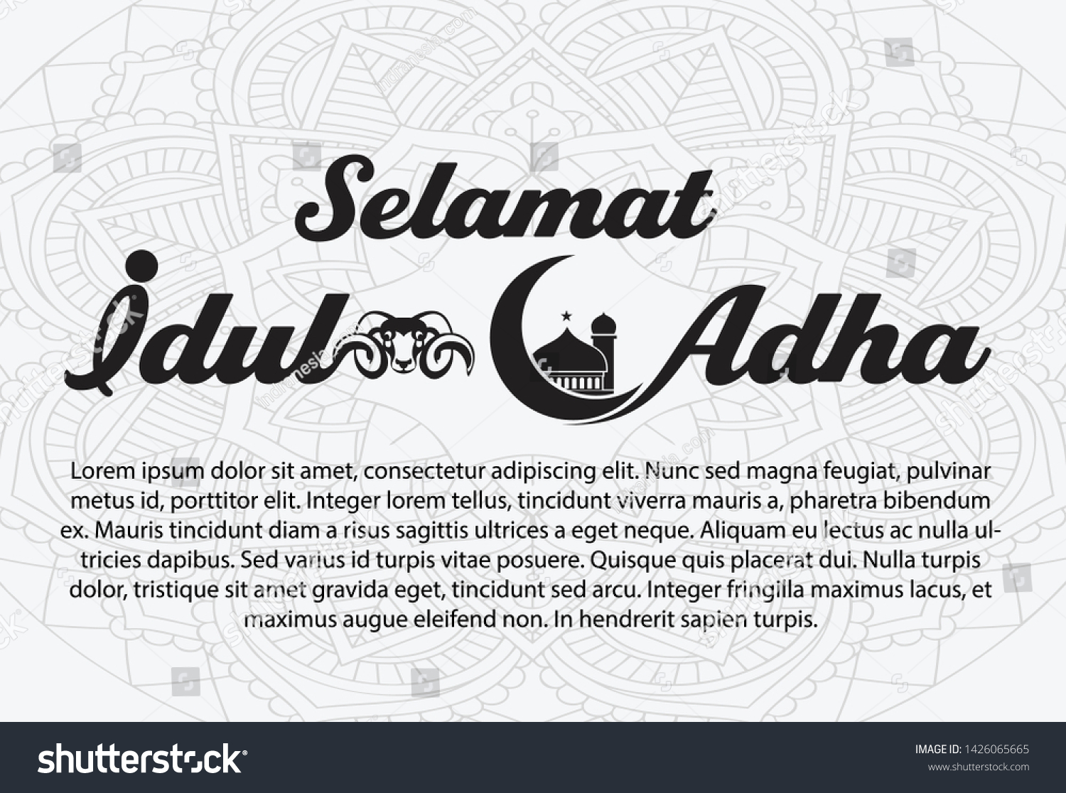 selamat idul adha translation happy eid stock vector royalty free 1426065665 https www shutterstock com image vector selamat idul adha translation happy eid 1426065665