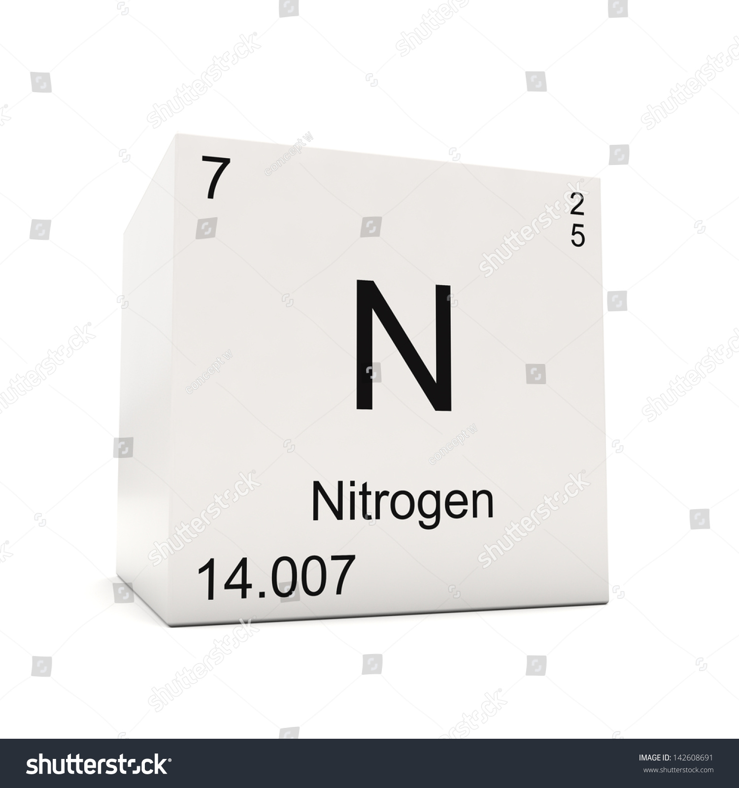 Cube nitrogen element periodic table isolated stock illustration cube of nitrogen element of the periodic table isolated on white background gamestrikefo Gallery