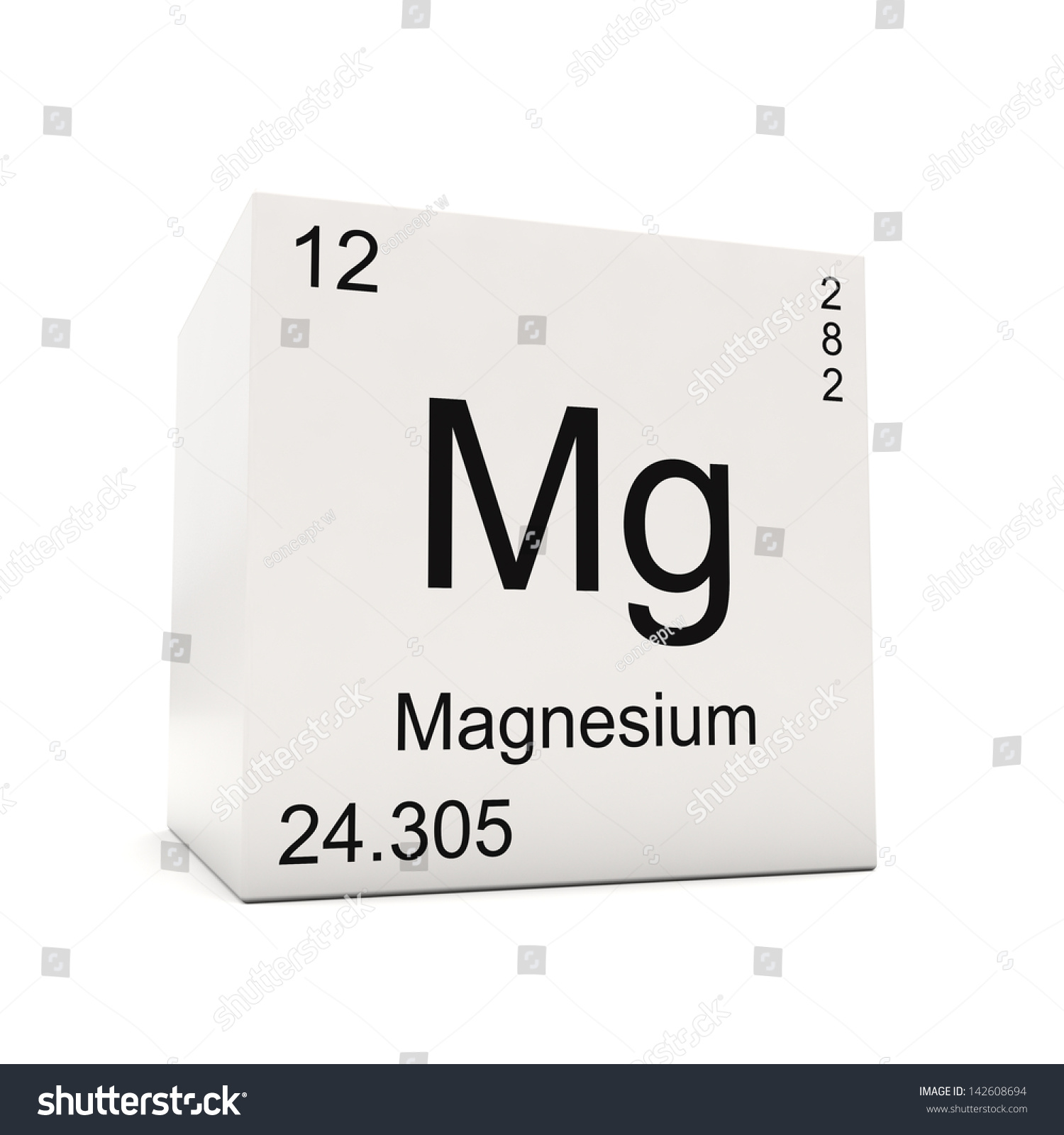 Cube magnesium element periodic table isolated stock illustration cube of magnesium element of the periodic table isolated on white background gamestrikefo Gallery