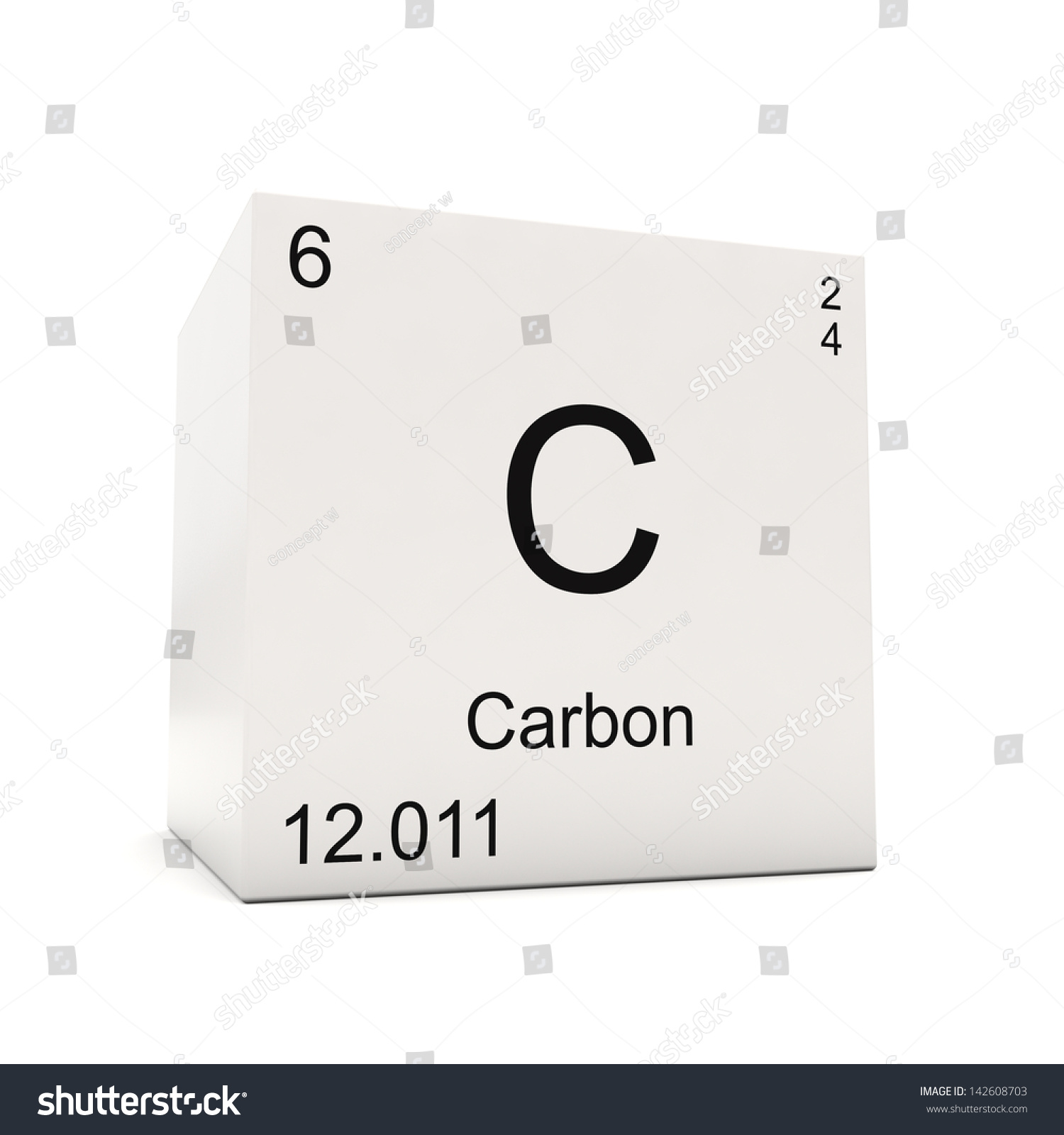 Cube carbon element periodic table isolated stock illustration cube of carbon element of the periodic table isolated on white background gamestrikefo Gallery
