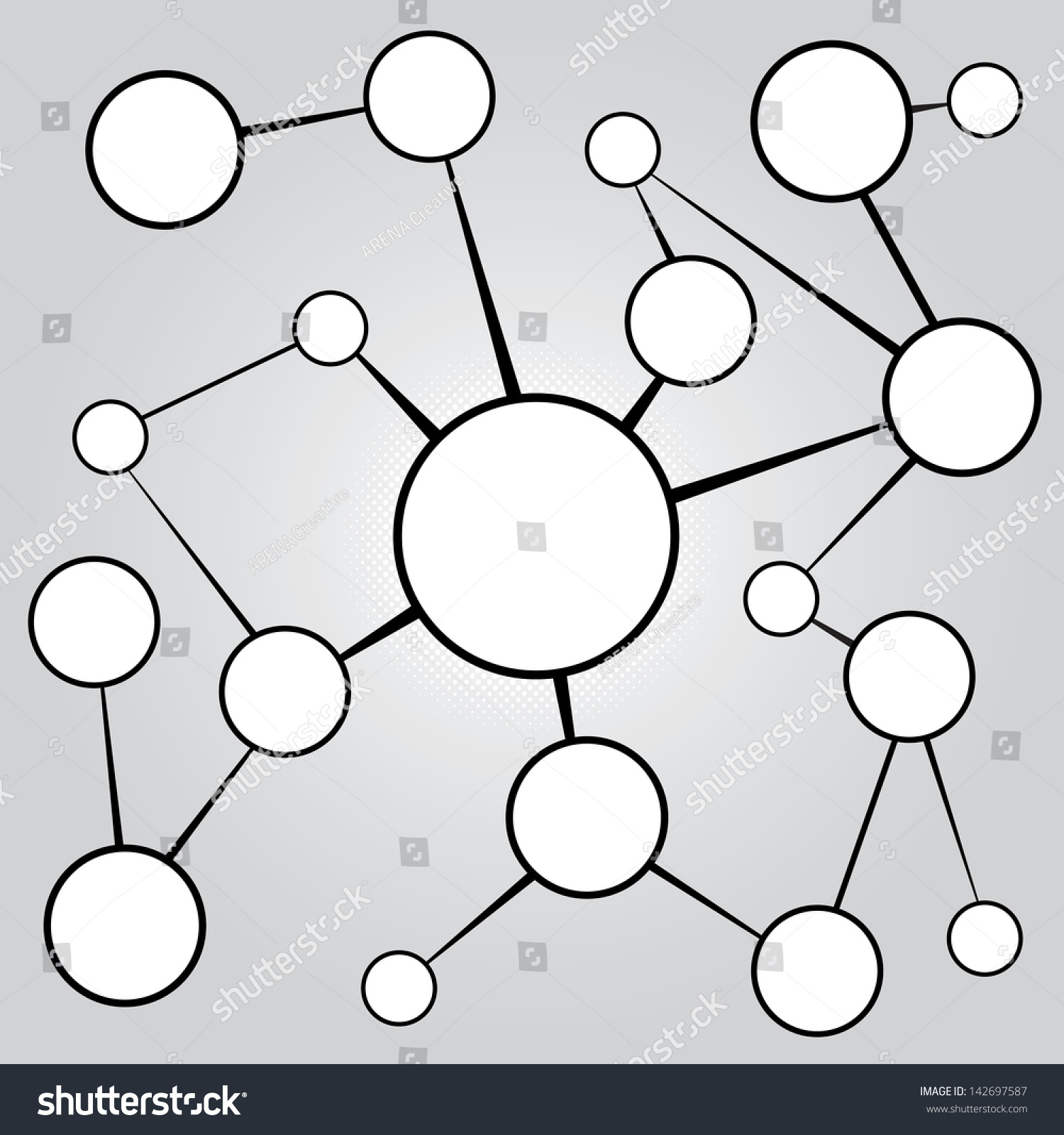 Empty flow chart diagram circles connecting stock illustration an empty flow chart diagram with circles connecting together a great social media or social nvjuhfo Gallery