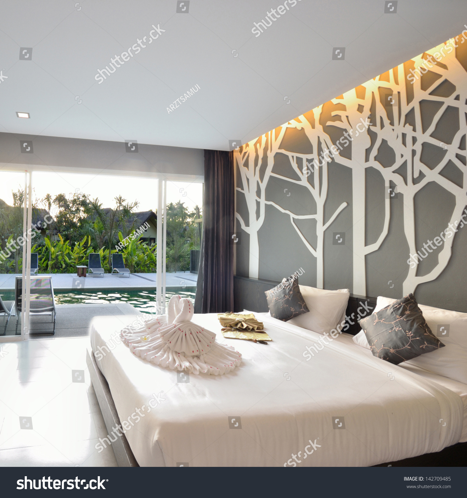 Luxury Bedroom Interior Luxury Bedroom Interior Design Modern Life Stock Photo 142709485