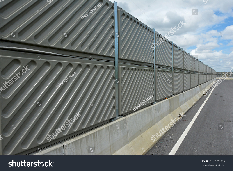 Noise Barrier Wall On Highway Near Stock Photo 142723729 Shutterstock