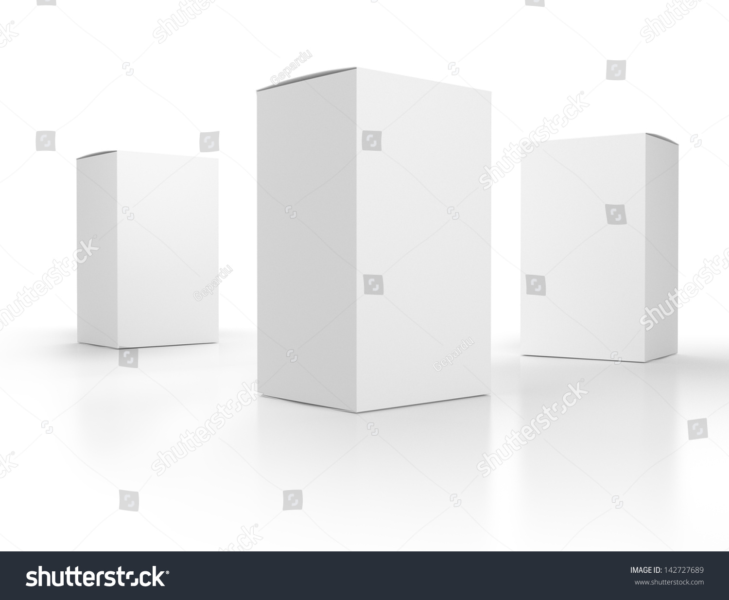 blank paper boxes composition template render stock photo 142727689 shutterstock. Black Bedroom Furniture Sets. Home Design Ideas