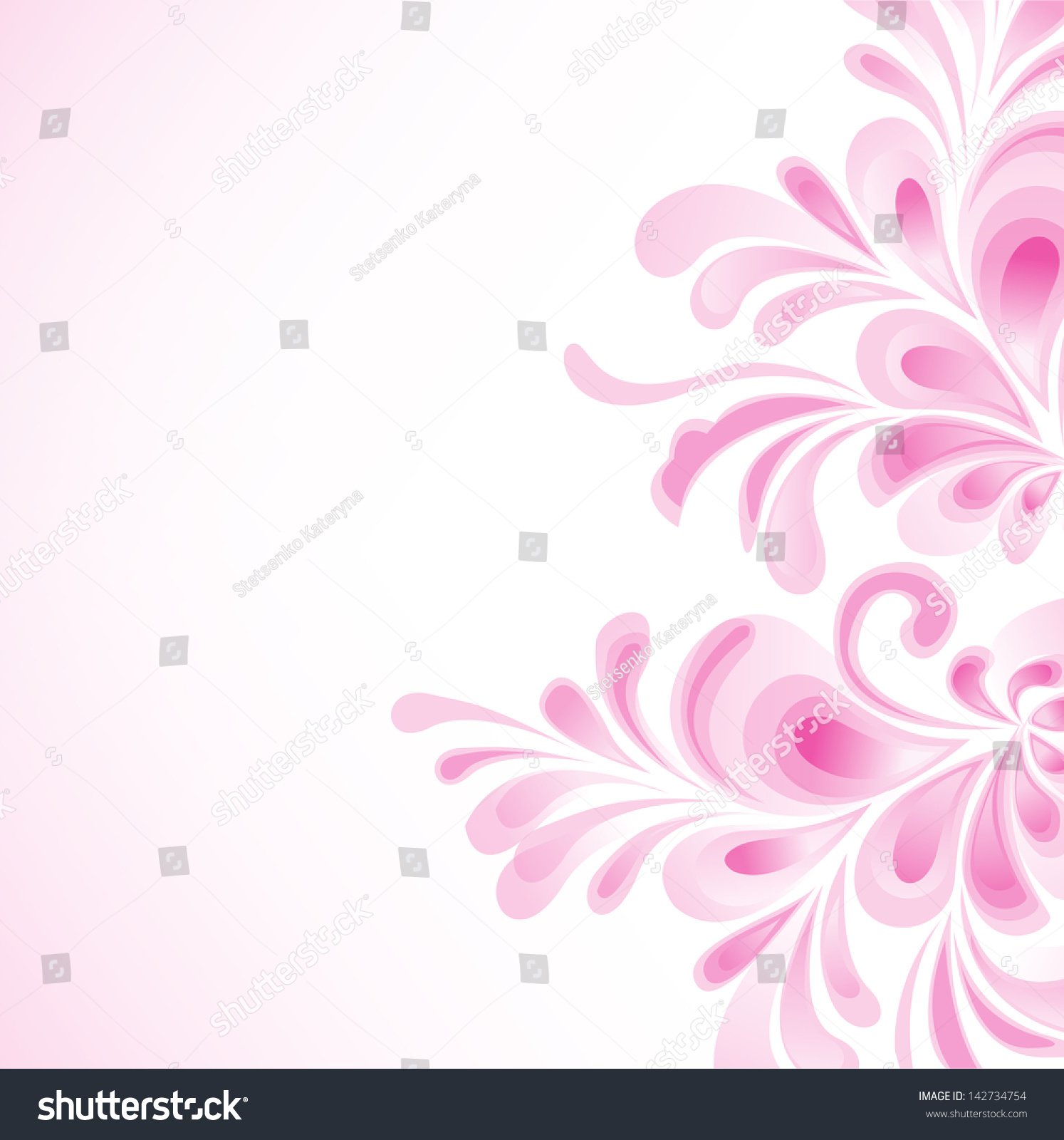 Floral Purple Background Wedding Invitation Card Stock Vector ...