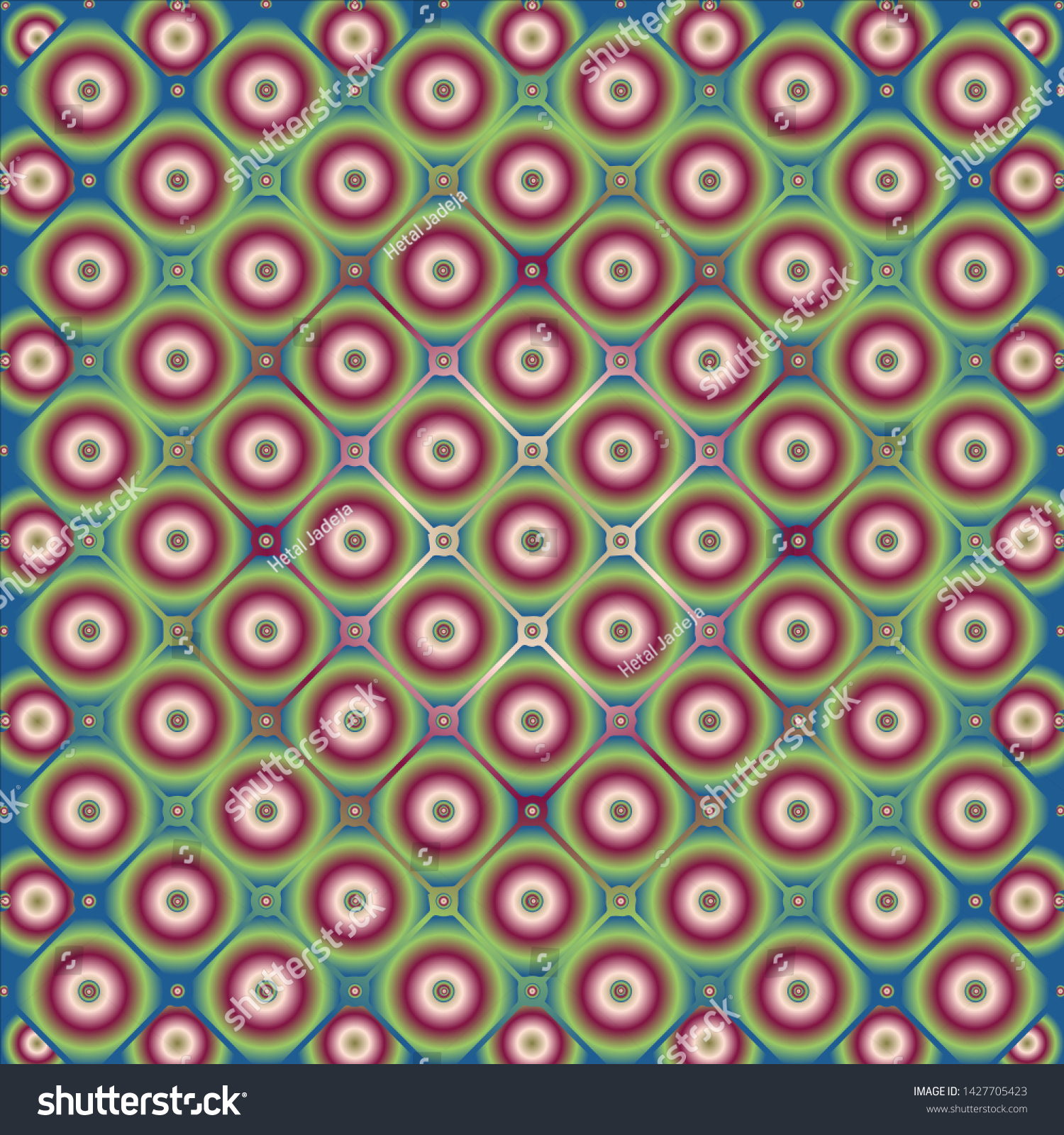 Colourful Square Circle Pattern Background Wallpapers Stock
