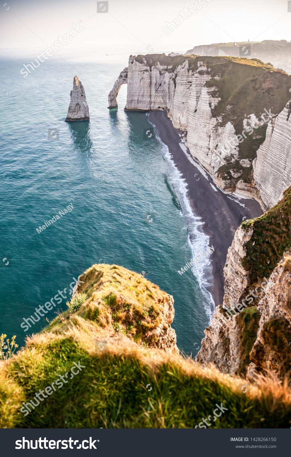 Coastal Landscape Along Falaise Daval Famous Stock Photo Edit Now