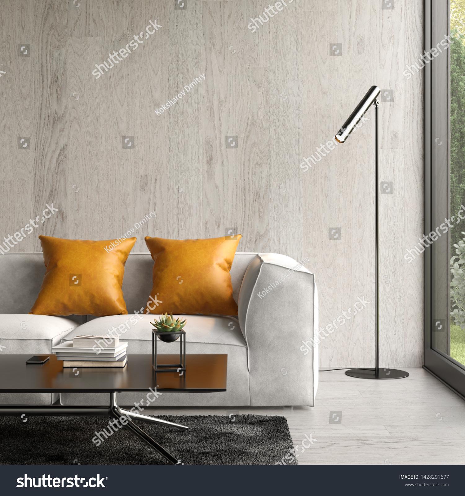 Interior Modern Living Room Sofa 3d ...