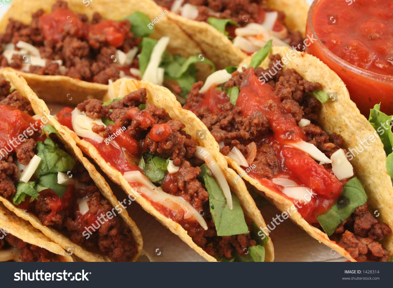 Delicious Mexican Tacos Stock Photo 1428314 : Shutterstock