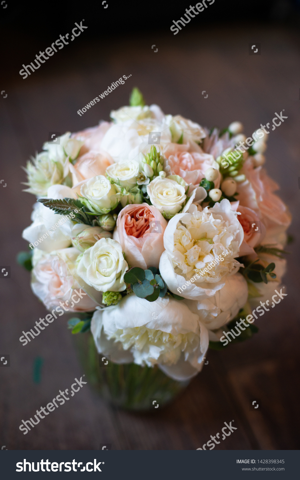 Peonies Roses Tulips Bouquet Flowers On Stock Photo Edit Now 1428398345
