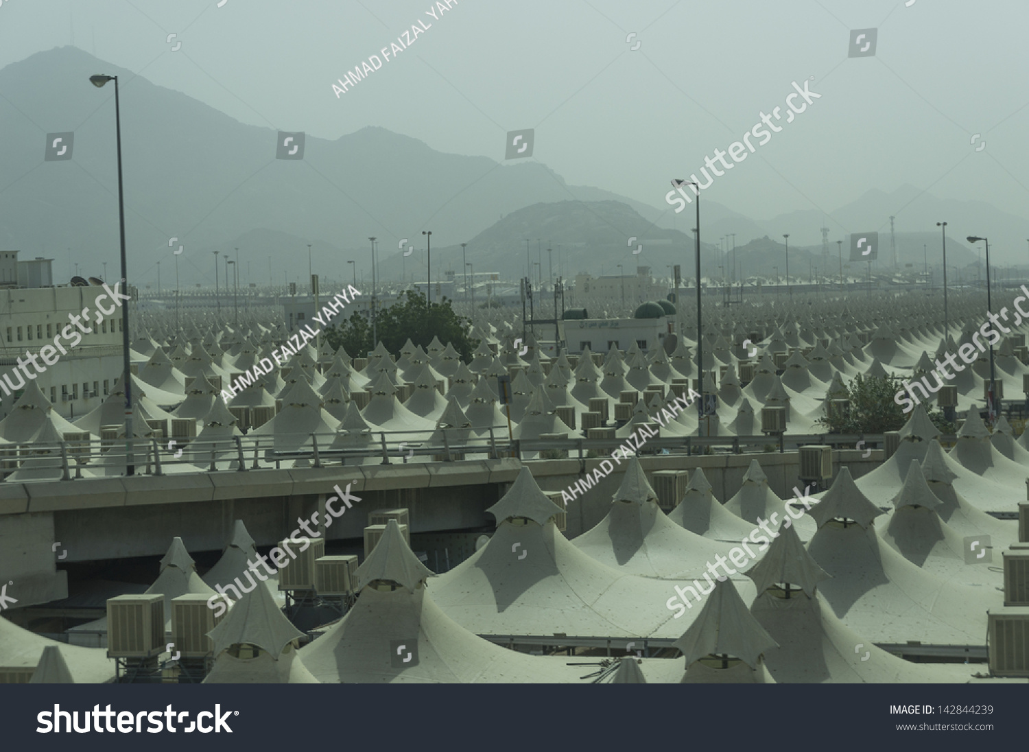 Rows of pilgrims tents in Mina Saudi Arabia. These tents made of fire- & Rows Pilgrims Tents Mina Saudi Arabia Stock Photo 142844239 ...