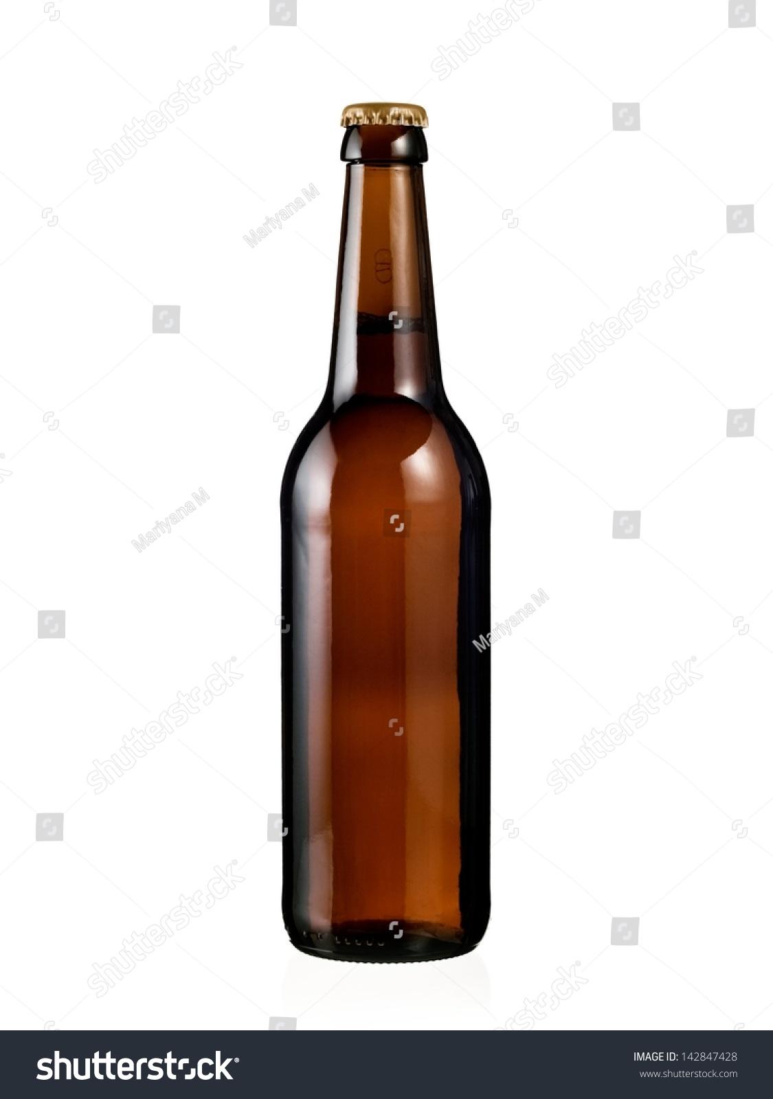 Full brown beer bottle #142847428