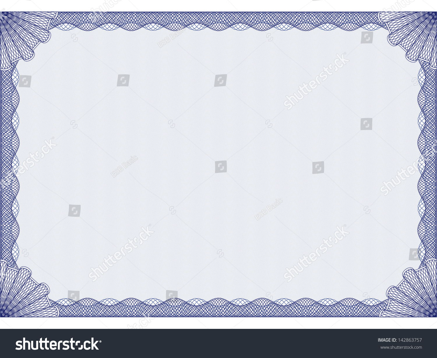 Blue certificate template stock vector 142863757 shutterstock blue certificate template xflitez Images