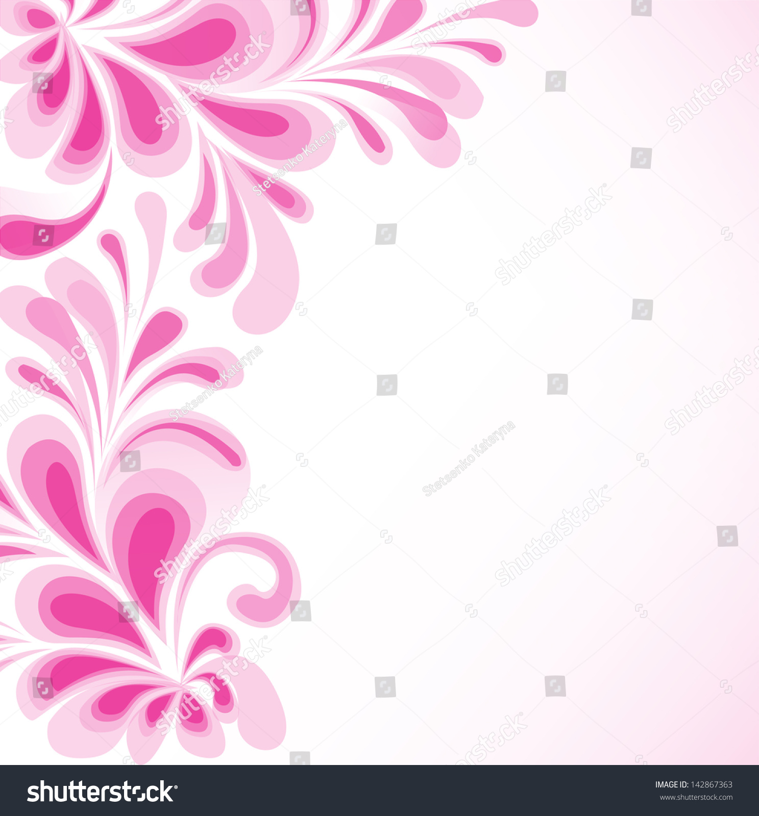 Purple Floral Vector Background Wedding Invitation Stock Vector ...