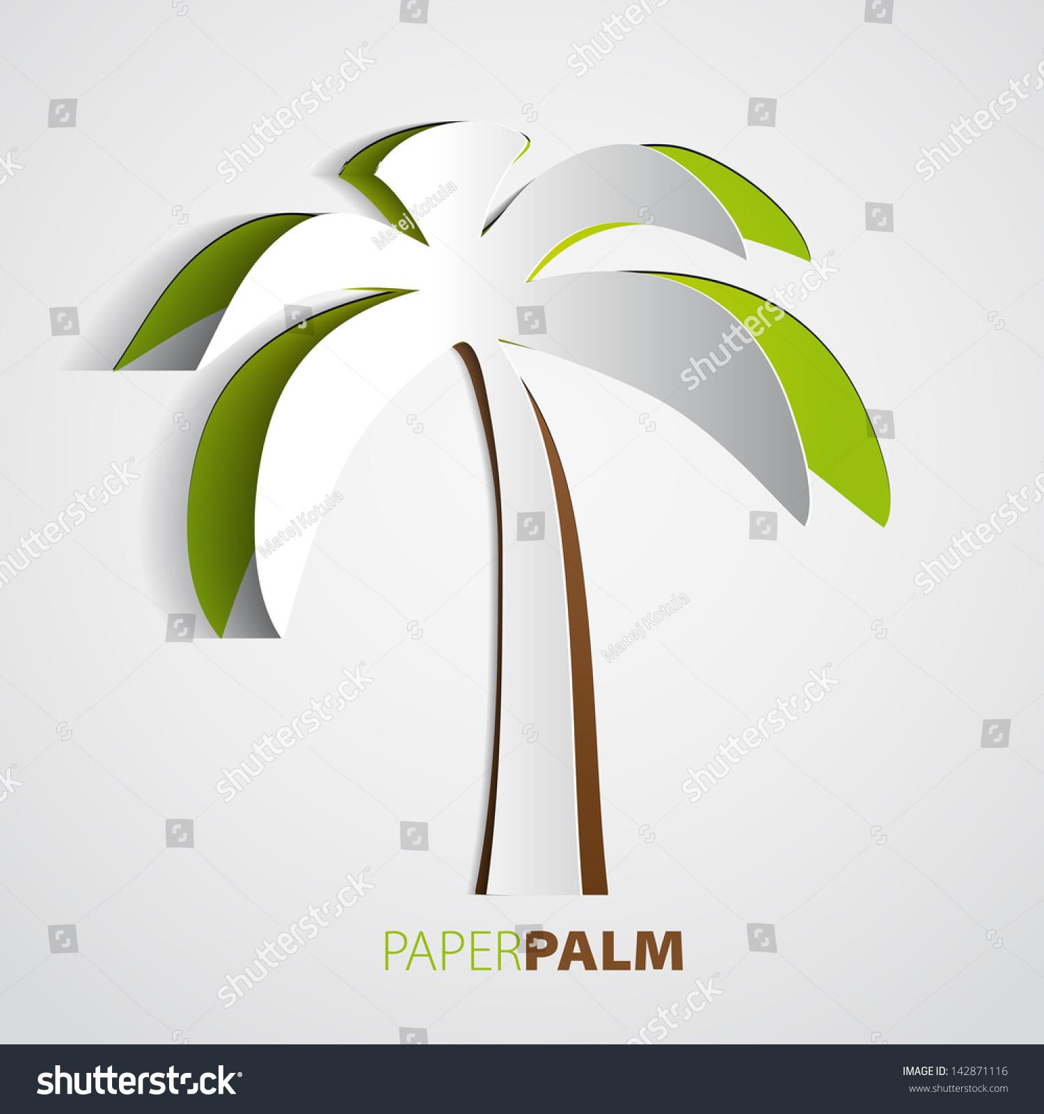 Пальмы из бумаги
