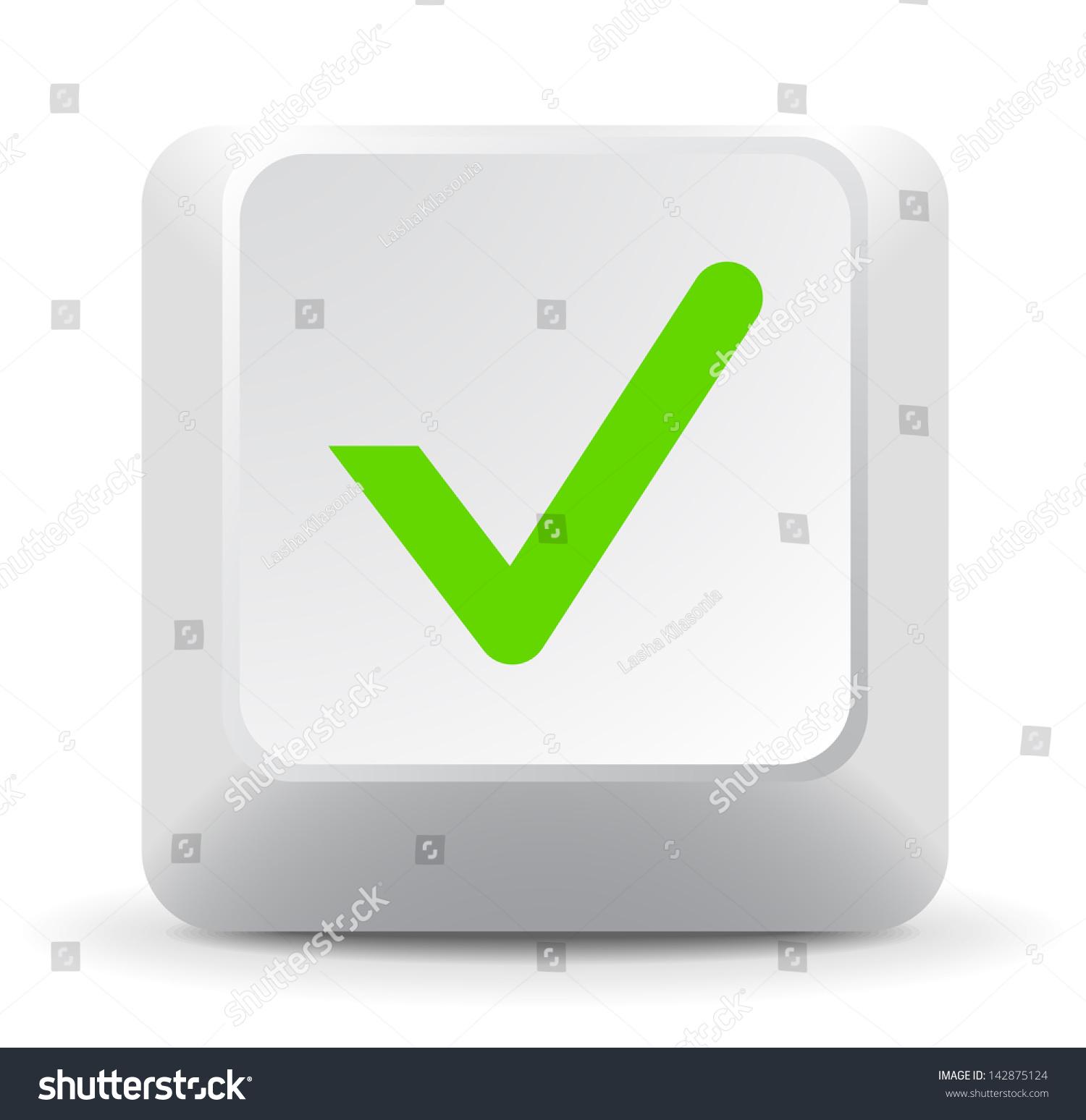 Check Keyboard Key Stock Vector Royalty Free 142875124 Shutterstock