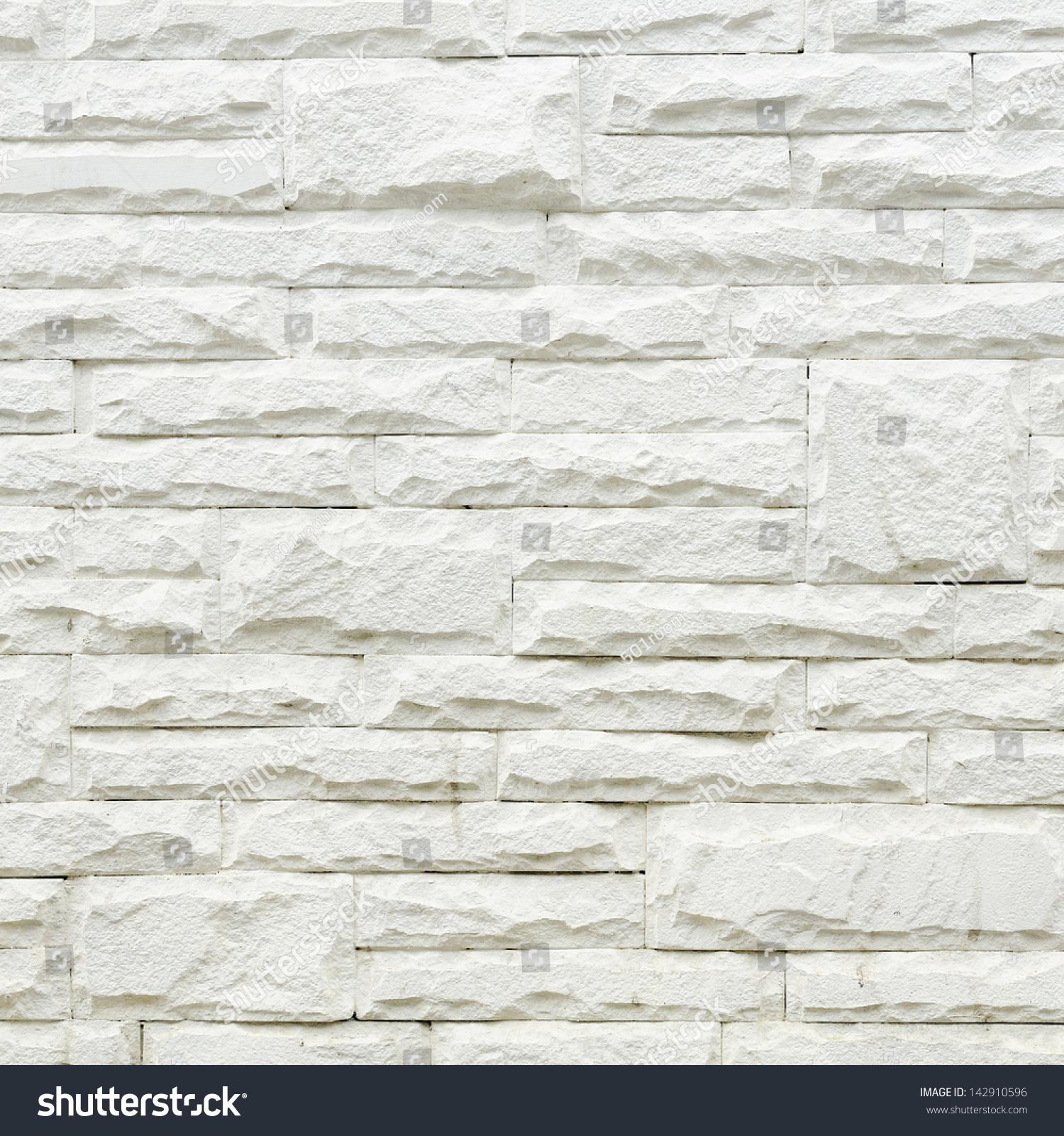 Brick Wall White Style Stone Wall Stock Photo 142910596