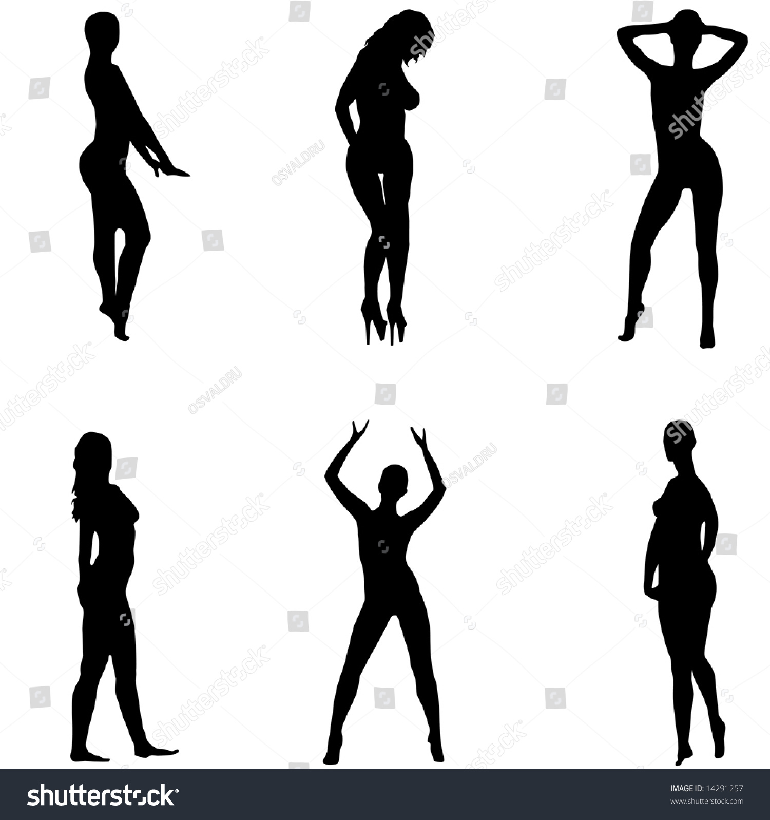Silhouettes Girls Sexual Poses Without Clothes Stock Vector 14291257 - Shutterstock-9469