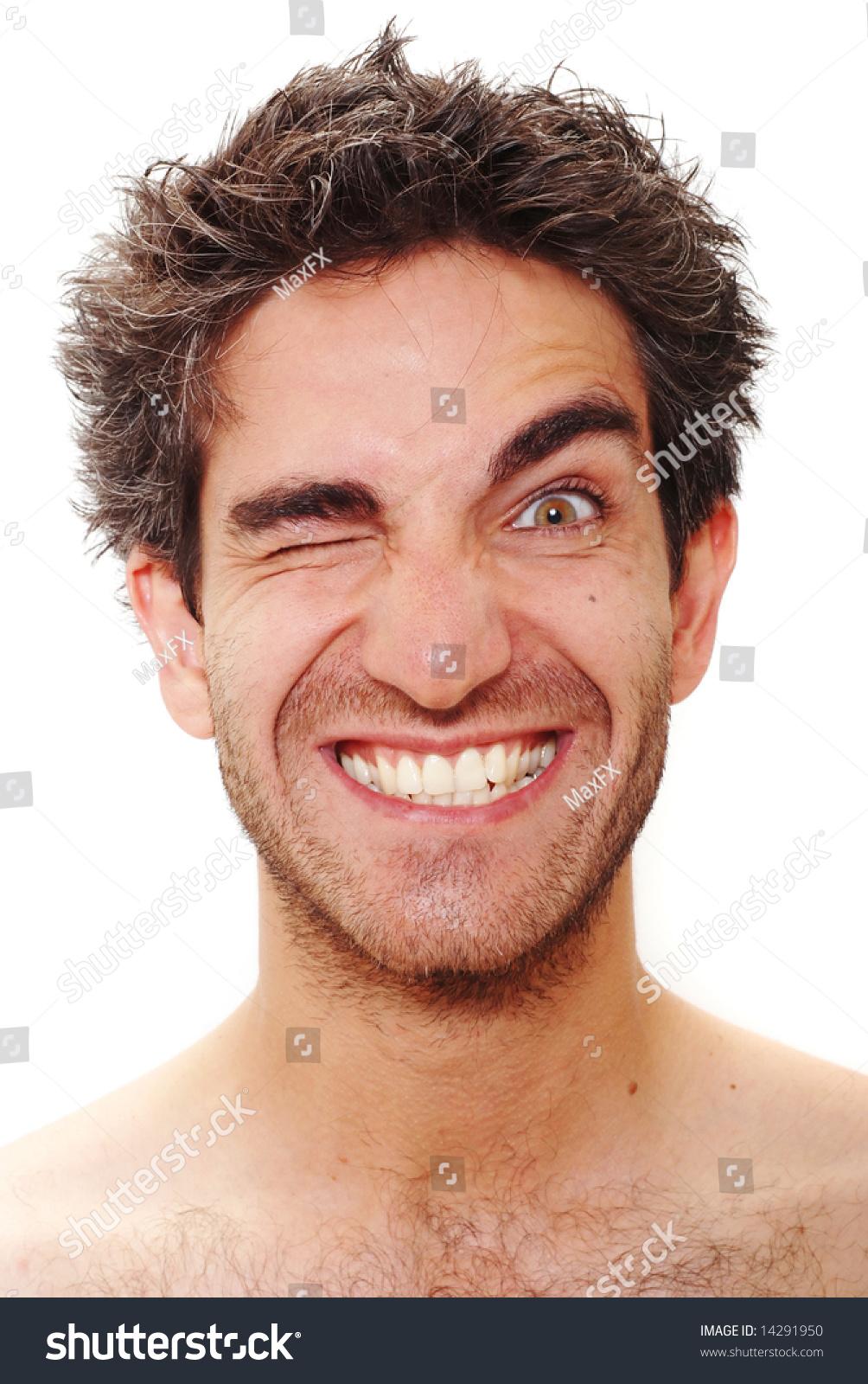 Man Happy Facial Expression Stock Photo 14291950 ...