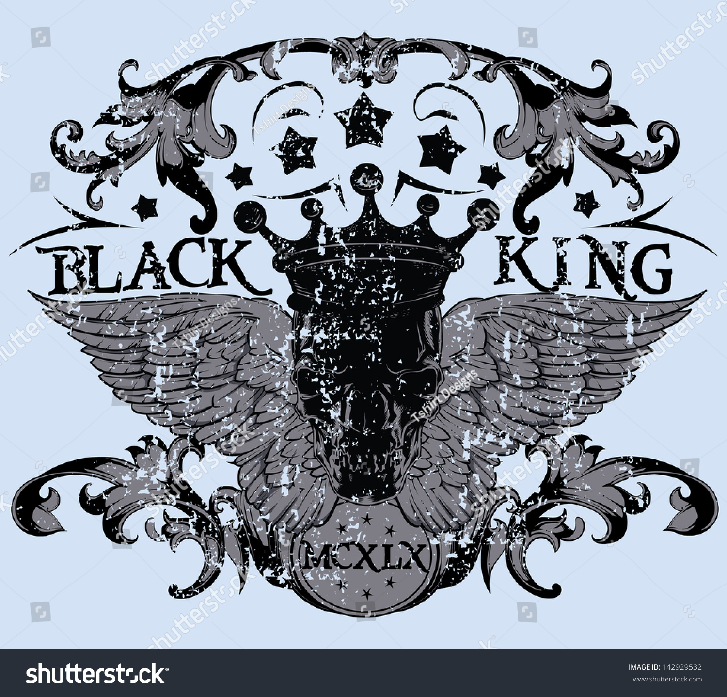 Black king also available in separate layer the original vector without scratch