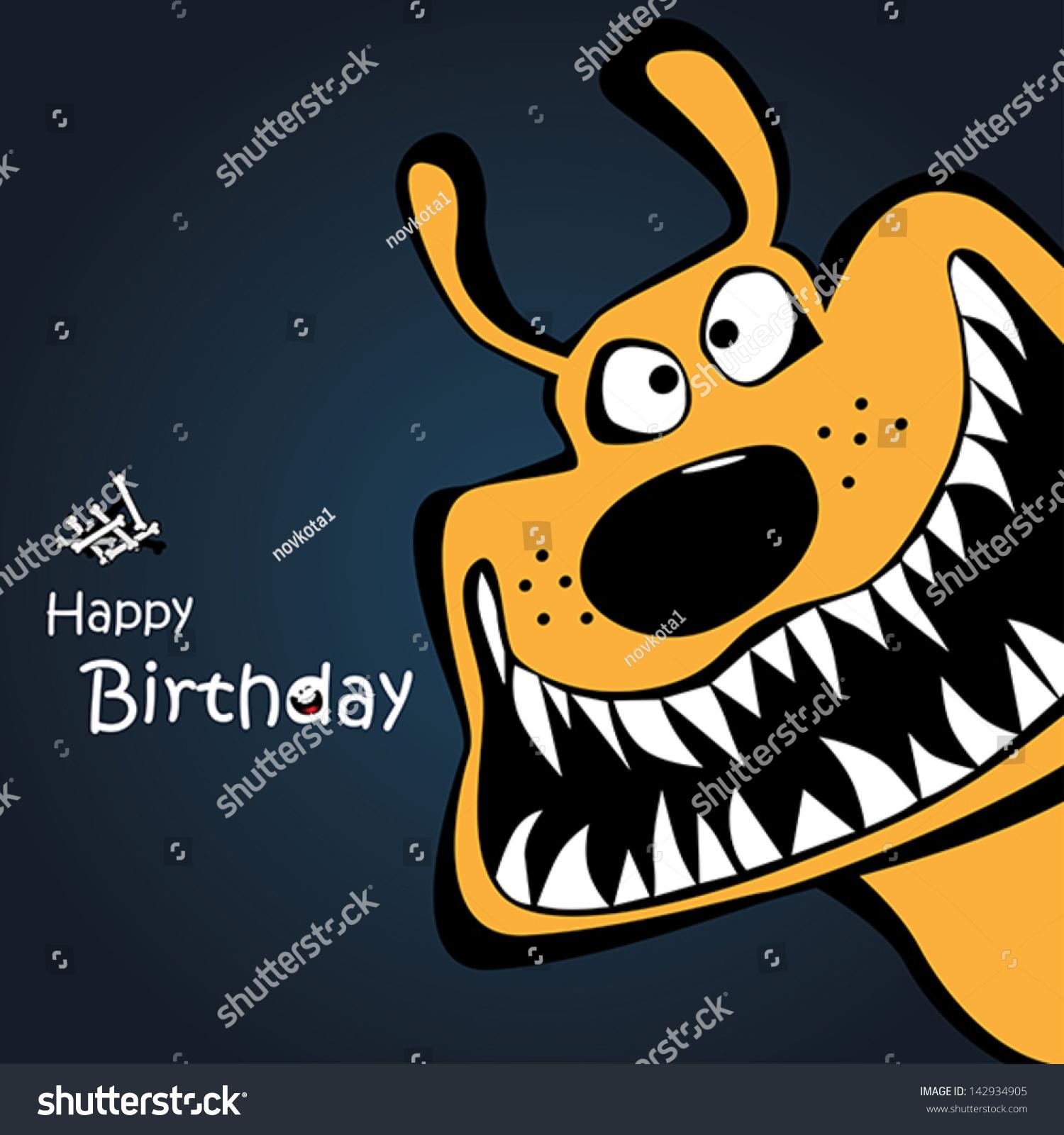 Happy Birthday Dog Card Vector 142934905 Shutterstock – Happy Birthday Dog Card