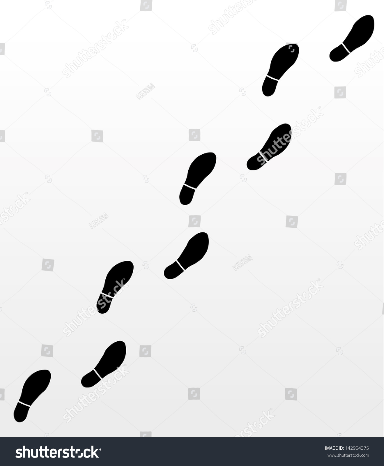 man footsteps stock vector 142954375 shutterstock Track Shoe Logo with Wings track logo shoe with wings