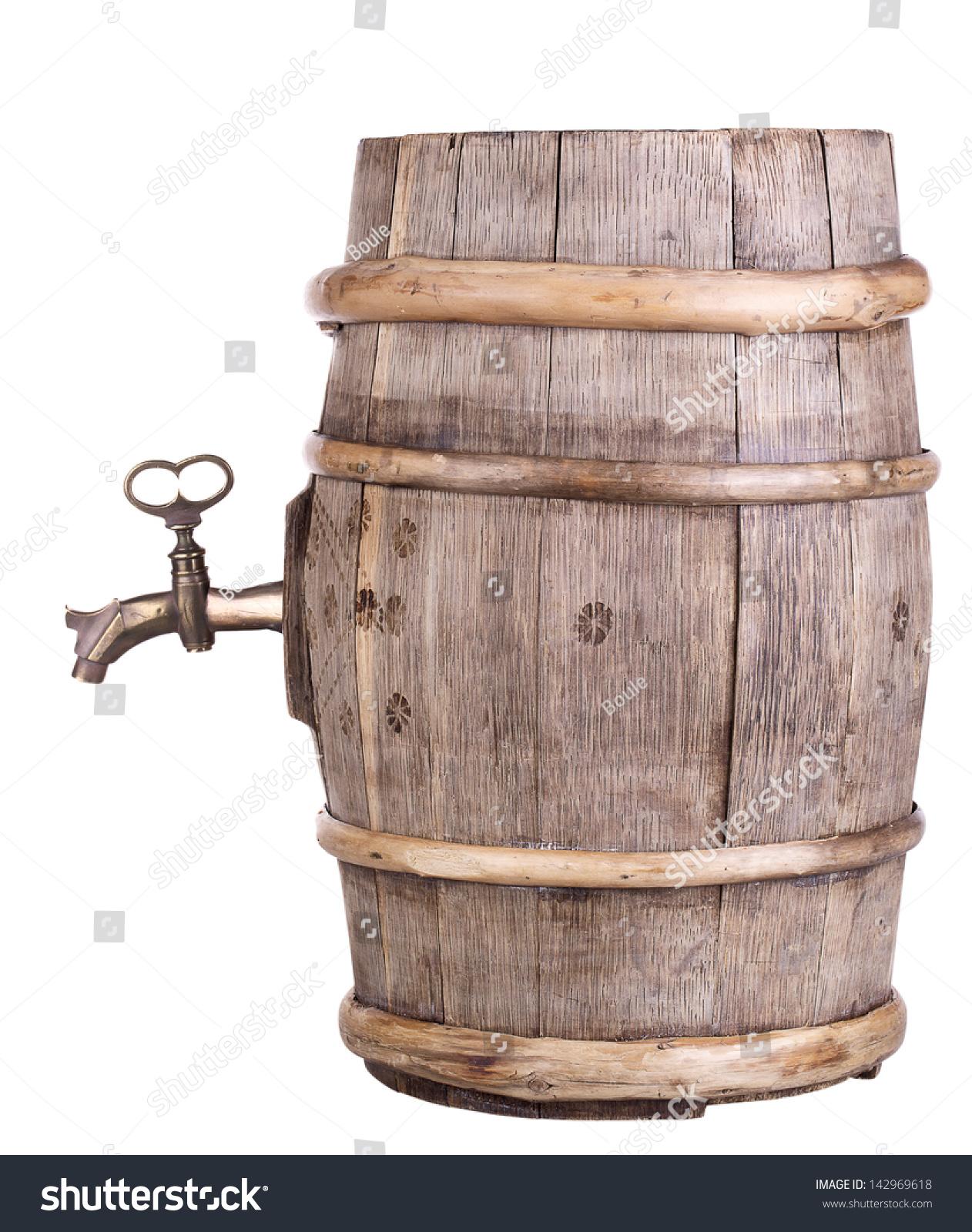 Old Wine Wooden Retro Barrel Faucet Stock Photo (Edit Now)- Shutterstock