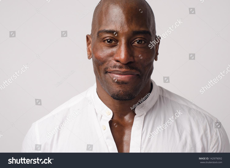 5099df333 Portrait Handsome Black Man Wearing White Stock Photo (Edit Now ...