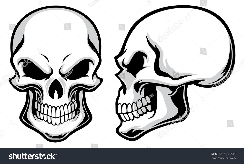 cartoon skulls stock vector 143028511 shutterstock